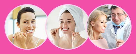 Good oral health can prevent breast cancer. Good oral hygiene includes brushing, flossing, and dental visits.