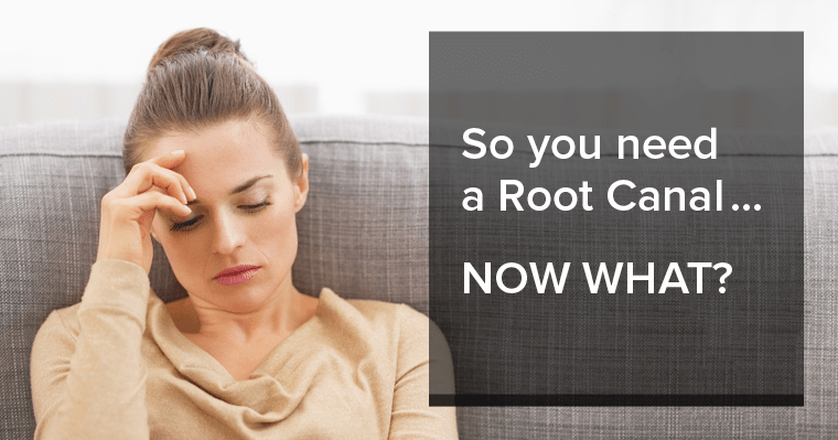 woman upset that she needs a root canal