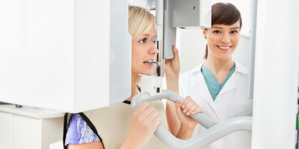 Panoramic x-rays create a full view of your teeth, jaws, and face.