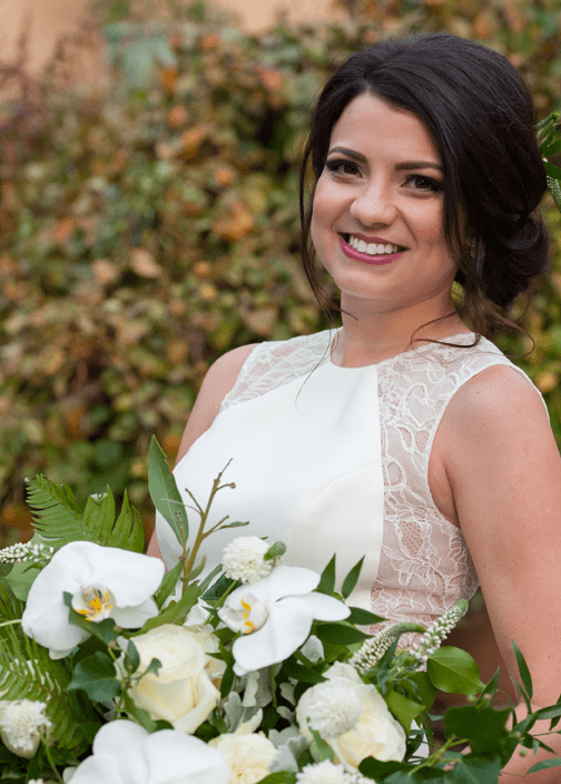 Actual patient who is now a smiling bride, thanks to KöR Teeth Whitening®