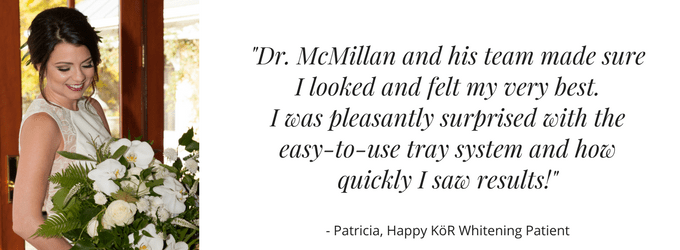 An actual KöR Whitening patient gives her testimonial for Dr. McMillan